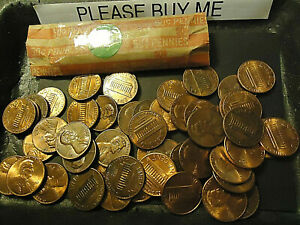 1982 D LINCOLN CENT SMALL DATE ZINC ROLL  > COMBINE POSTAGE AVAILABLE <