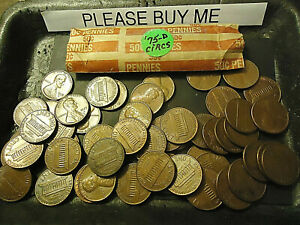 1975 D LINCOLN CENT CIRCS ROLL  > COMBINE POSTAGE AVAILABLE <