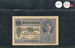 Click now to see the BUY IT NOW Price! 1917 GERMANY 5 MARK FUNF   CHOICE CRISP UNCIRCULATED NEARLY PERFECT