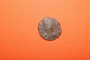 ANCIENT ROMAN BRONZE COIN TWO SOLDIERS  UAT 5