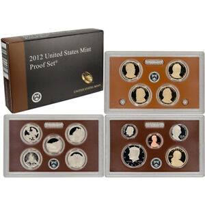 Click now to see the BUY IT NOW Price! 2012 S US MINT PROOF SET 14 PC COA