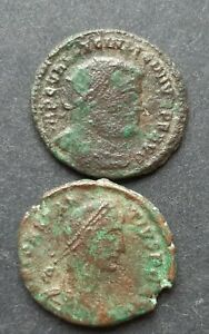 ROMAN BRONZE COINS. LOT OF 2 COINS.