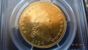 1796 DRAPED BUST 10.00 GOLD SMALL EAGLE PCGS AU DETAILS  4146 MINTED