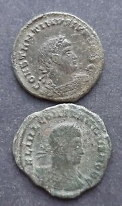 ROMAN BRONZE COINS. LOT OF 2 COINS