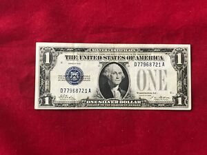 FR 1600  1928 PLAIN SERIES $1 ONE DOLLAR SILVER CERTIFICATE  LY FINE