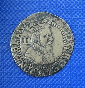 JAMES I HALFGROAT FIRST COINAGE MM THISTLE 1603 4   ATTRACTIVELY TONED