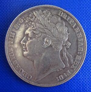 GEORGE IV SILVER HALFCROWN 1823 LAUREATE 2ND REVERSE   ATTRACTIVELY TONED.