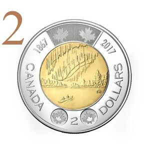 CANADA 2017 NEW 2XTOONIES 150TH OUR WONDERS DANCE OF THE SPIRITS  BU FROM ROLL