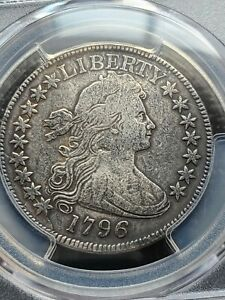 Click now to see the BUY IT NOW Price! 1796 DRAPED BUST HALF DOLLAR 16 STARS PCGS VF DETAILS REPAIRED  DATE