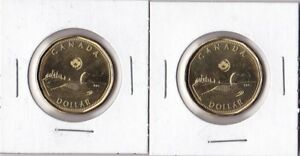 2012 CANADA LOONIE CIRCULATION $1 LASER ETCHING DIRECT FROM MINT ROLL