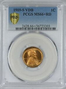Click now to see the BUY IT NOW Price! 1909 S VDB LINCOLN CENT PCGS MS66  RED   THE ICONIC RARITY