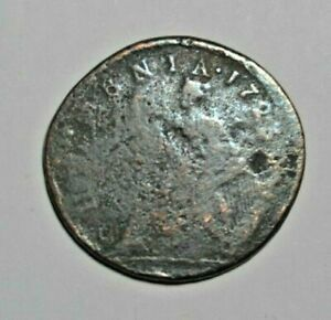 IRELAND   GEORGE I   WOOD'S HALFPENNY 1723   CIRCULATED IN COLONIAL AMERICA