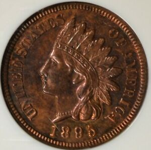 Click now to see the BUY IT NOW Price! 1895 INDIAN HEAD CENT NGC MS64RB  DISTINCTIVE TONE NICE EYE APPEAL