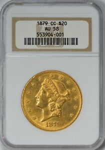 Click now to see the BUY IT NOW Price! 1879 CC $20 GOLD LIBERTY DOUBLE EAGLE NGC AU58