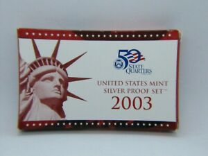 2003 UNITED STATES SILVER PROOF MINT SET   BOX ONLY   INCLUDES COA