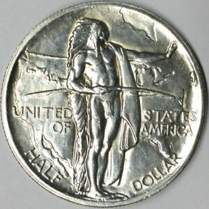 1926 S 50C OREGON TRAIL COMMEMORATIVE SILVER HALF DOLLAR UNC UNCERTIFIED