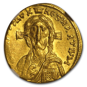 Click now to see the BUY IT NOW Price! BYZANTINE GOLD SOLIDUS JUSTINIAN II  685 695 AD  AU NGC   SKU190931
