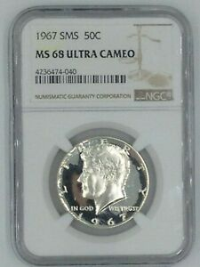 Click now to see the BUY IT NOW Price! 1967 KENNEDY HALF DOLLAR SMS MS 68 ULTRA CAMEO  6 MONTHS AGO $13 000