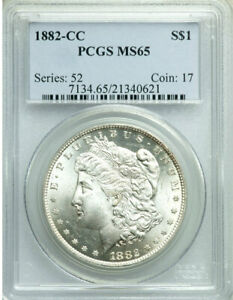 Click now to see the BUY IT NOW Price! 1882 CC MORGAN DOLLAR PCGS MS65  VAM 2E WING L GOUGE/CLASH HITLIST/WOW