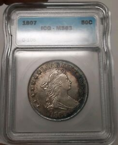 Click now to see the BUY IT NOW Price! 1807 50C DRAPED BUST HALF DOLLAR MS 63