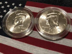 2014 P&D KENNEDY HALF DOLLARS KENEDY US.MINT ROLL CLAD 50 2 UNCIRCULATED PD SET