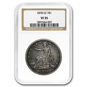 1878 CC TRADE DOLLAR VF 35 NGC   SKU191469