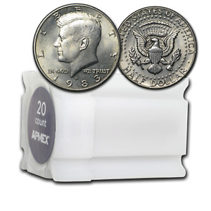 Click now to see the BUY IT NOW Price! 1983 D KENNEDY HALF DOLLAR 20 COIN ROLL BU   SKU12115