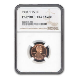 Click now to see the BUY IT NOW Price! 1990 NO S LINCOLN CENT PF 67 UCAM NGC  RED    SKU132192