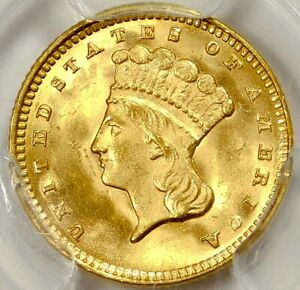 Click now to see the BUY IT NOW Price! PCGS MS66 $1 1874 TYPE 3 GOLD PRINCESS