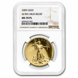 Click now to see the BUY IT NOW Price! 2009 ULTRA HIGH RELIEF GOLD DOUBLE EAGLE MS 70 PL NGC GOLD LABEL    SKU 57926