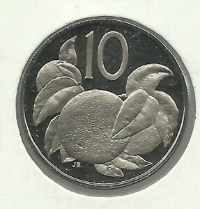 1973 COOK ISLANDS PROOF 10 CENT COIN. BUYER GETS ONE  1  COIN.