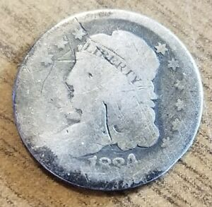 1834 US SILVER HALF DIME CAPPED BUST