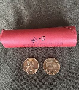 1968 D UNCIRCULATED OBW PENNY ROLL