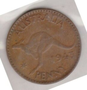 H146 3  1943 AU ONE PENNY COIN  C
