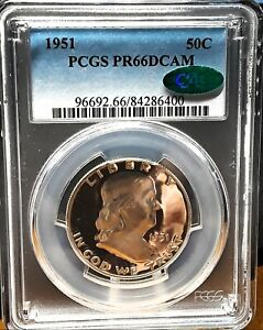 Click now to see the BUY IT NOW Price! 1951 50C DCAM FRANKLIN HALF DOLLAR PCGS & CAC PR 66DCAM