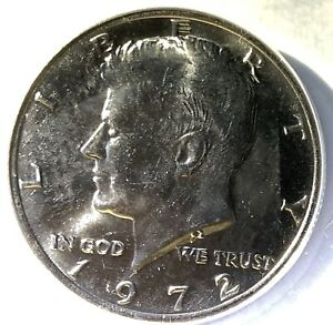 Click now to see the BUY IT NOW Price! 1972 HIGHEST GRADE    KENNEDY HALF DOLLAR VARIETY ANACS MS 67