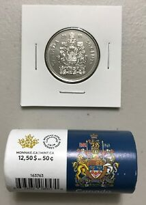 CANADA 2018 NEW 50 CENTS COAT OF ARMS OF CANADA  UNC DIRECTLY FROM MINT ROLL