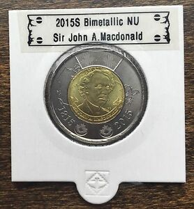 CANADA 2015 NEW 2 DOLLAR TOONIES SIR JOHN A.MACDONALD  BU FROM MINT ROLL