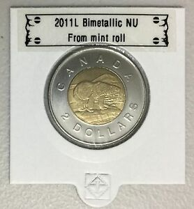 CANADA 2011 NEW 2 DOLLAR TOONIES  BU DIRECTLY FROM MINT ROLL
