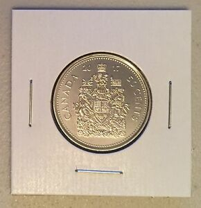 CANADA 2017 NEW 50 CENTS COAT OF ARMS OF CANADA  BU DIRECTLY FROM MINT ROLL