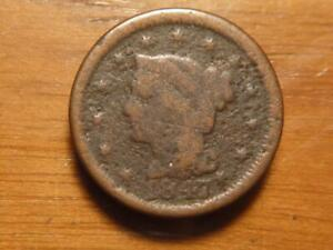 1847 LARGE CENT BRAIDED HAIR WELL WORN CONDITION ..SKU15720