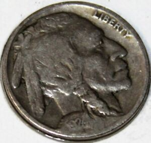 1924 P 5C BUFFALO NICKEL 17RR0110