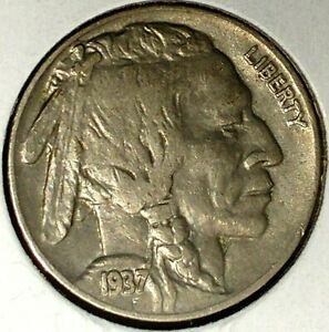 1937 P 5C BUFFALO NICKEL 17OOC1505 2 UNC