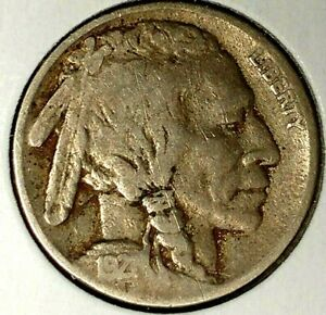 1921 P 5C BUFFALO NICKEL 19RR0406