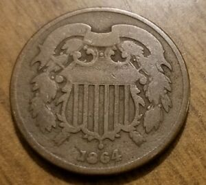 1864 TWO CENT PIECE G