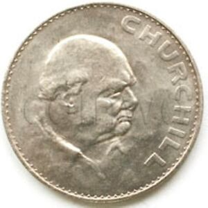 GREAT BRITAIN 1 CROWN 1965 CHURCHILL XF UNC  817