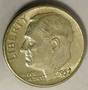 1957 P 10C ROOSEVELT DIME 18LSR0402 2 90  SILVER BU ONLY 50 CENTS FOR SHIPPING