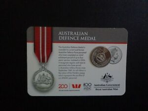 AUSTRALIAN : R.A.M ISSUED 20C AUSTRALIAN DEFENCE MEDAL  :  UN CIRCULATED.