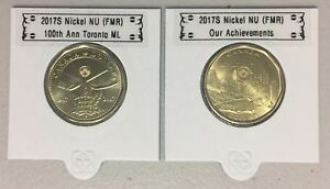CANADA 2017 NEW 2 X LOONIE KIT  CIRCULATION COINS  BU DIRECTLY FROM MINT ROLL