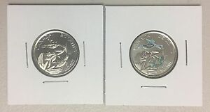 CANADA 2017 NEW 2X25 CENTS KIT 150TH OF CANADA WITH COLOR  UNC FROM ROLL